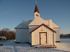 The Old Church in Karasjok, where dog passers practiced their disappearing art...