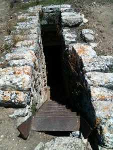 Steps leading into the ground